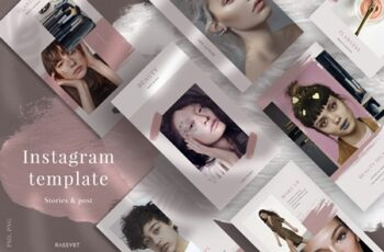 Beauty Instagram Template, Social media pack, Fashion stories template 8