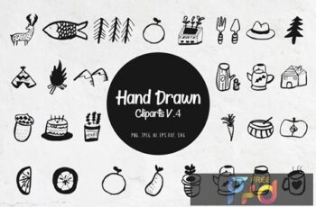 45+ Handdrawn Miscellaneous Cliparts Ver. 4 4