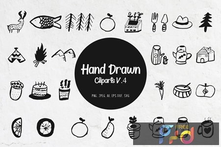 45+ Handdrawn Miscellaneous Cliparts Ver. 4 1