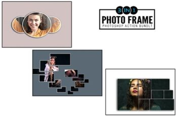3 IN 1 Photo Frame Photoshop Actions Bundle 6