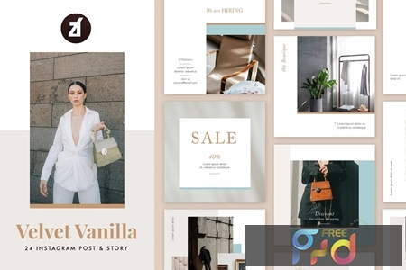 Velvet vanilla social media graphic templates 1