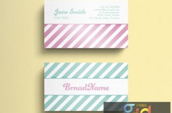 Business Card Layout with Diagonal Stripes 274315574 7