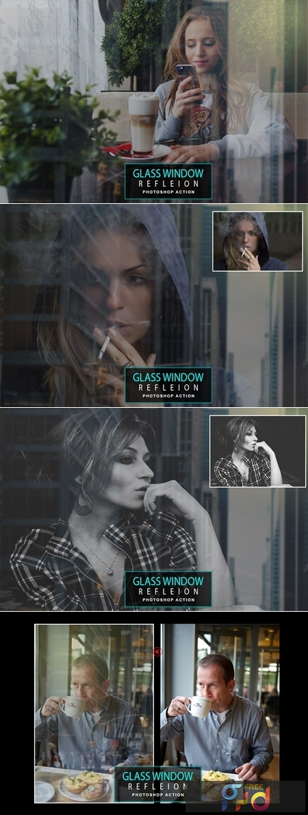 Glass Window Reflecion Photoshop Action 1