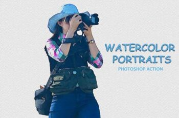 Watercolor Portraits - Ps Action 3757090 5