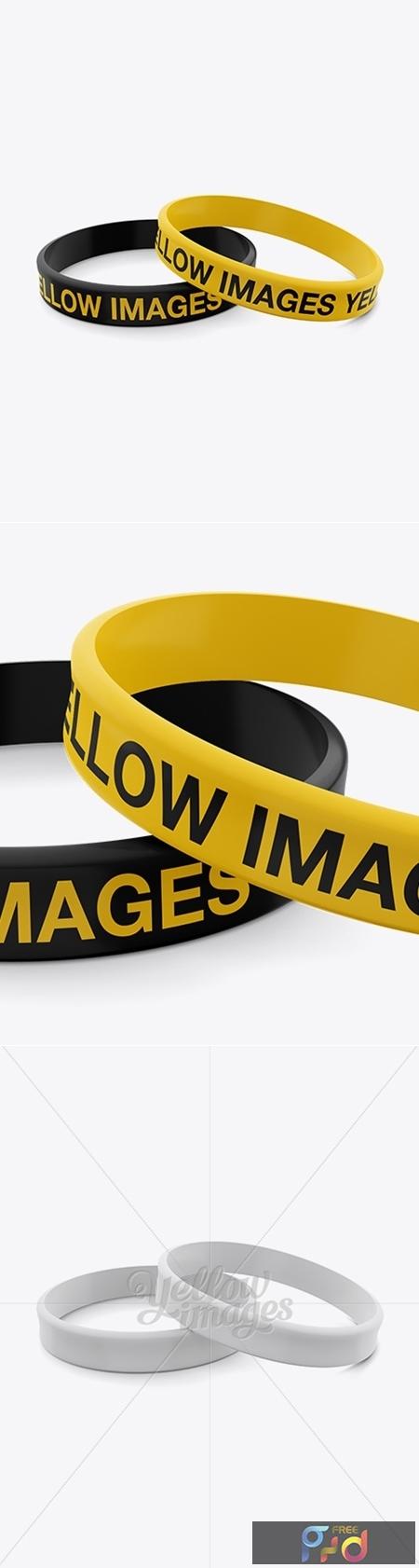 Silicone Wristbands Mockup 12393 1
