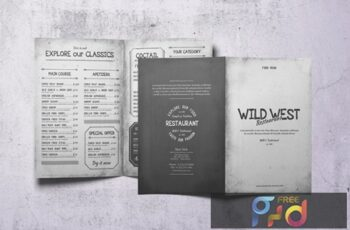 Wild West Bifold A4 & US Letter Food Menu 6