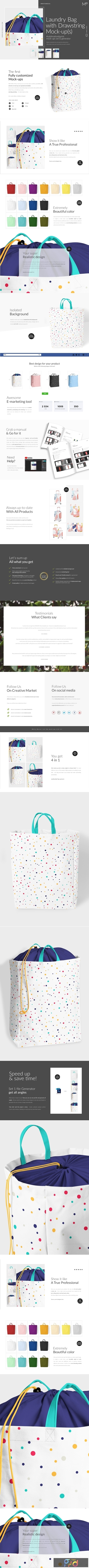 Laundry Bag With Drawstring Mock-ups 3857211 1