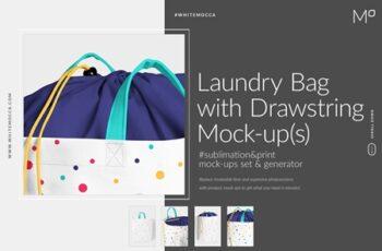 Laundry Bag With Drawstring Mock-ups 3857211 8