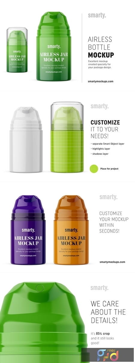 Plastic airless bottle mockup 3349266 1