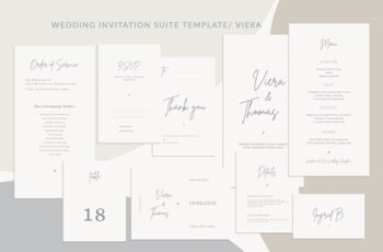 Wedding Invitation Suite Viera, Templates