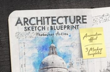 Animated Architecture Sketch and Blueprint Photoshop Action 23954628 9
