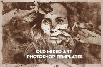 Old Mixed Art Photoshop Templates 8