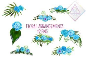 Blue Floral Arrangements 1508631 7