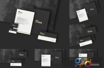 Elegant Stationery Branding Mockups 2