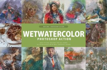 Wet Watercolor Photoshop Action 3357333 3