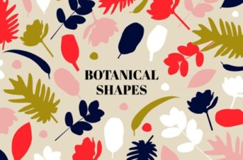 Botanical Shapes Pattern Set 1505845 8