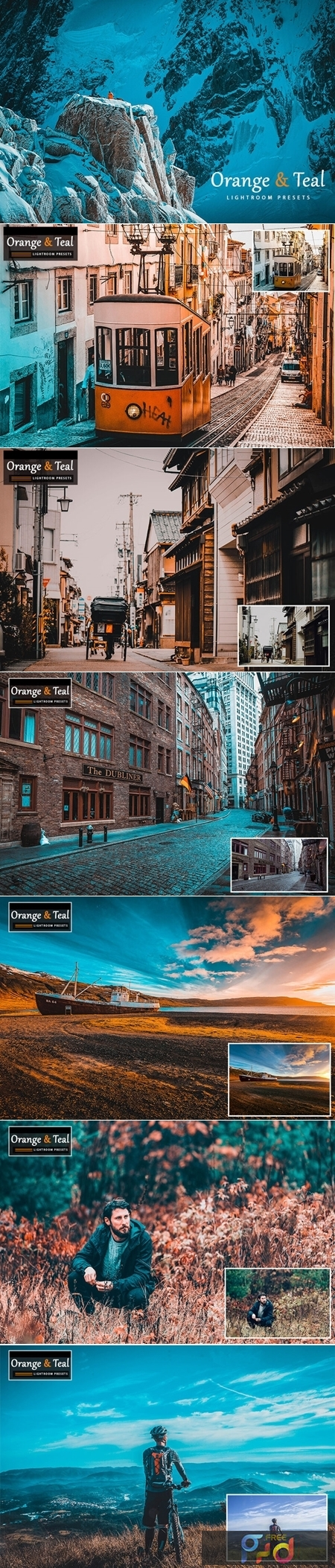 Orange & Teal Lightroom Presets 1
