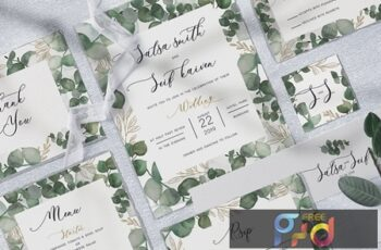 Eucalyptus Wedding Invitation KFU75E 5