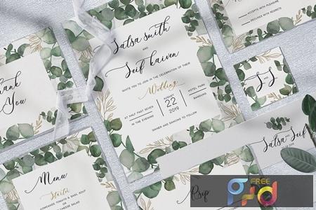 Eucalyptus Wedding Invitation KFU75E 1