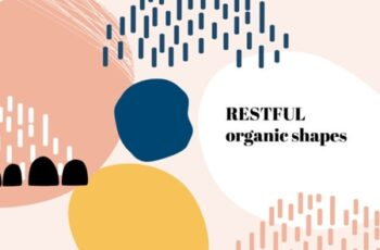Organic Shapes Vector Patterns 1505891 1