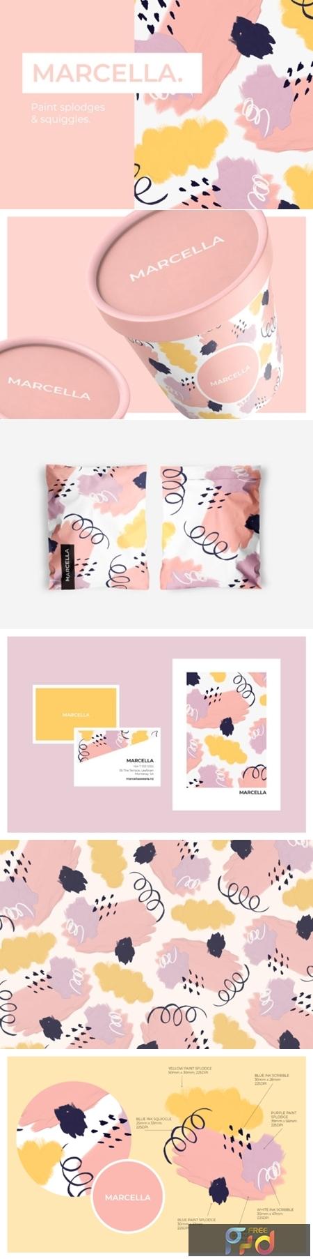 Pretty Pastel Paint Splodges 1505869 1