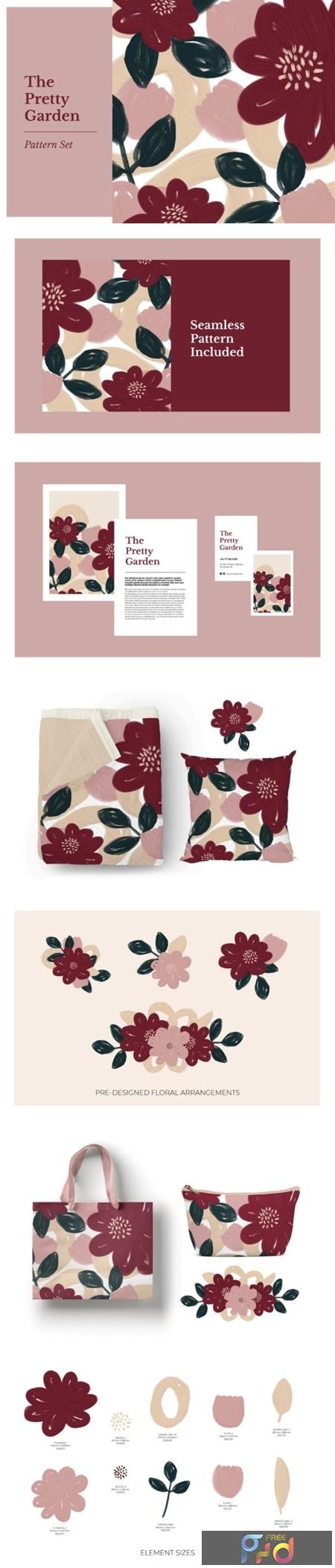 The Pretty Garden Seamless Pattern Set 1505878 1