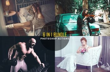 6 IN 1 Photoshop Actions Bundle 8