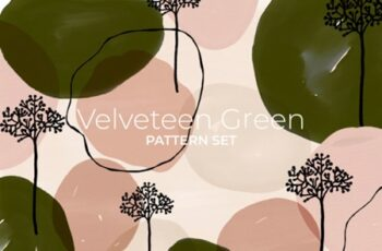 Velveteen Green Pattern Set 1505857 3