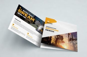 Construction Square Trifold Brochure 3594465 4