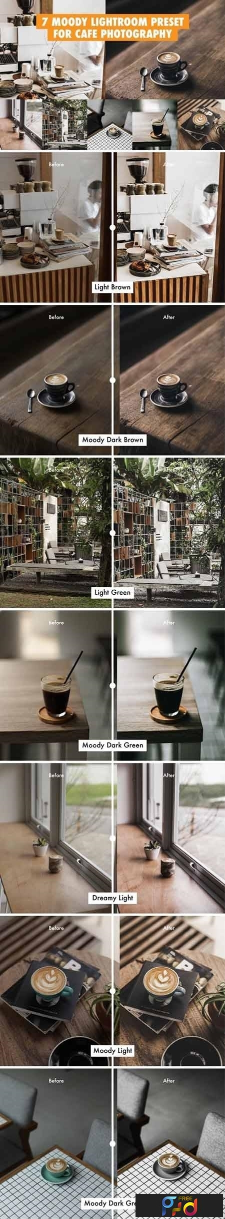 7 Moody Lightroom Preset For Cafe Photography 1
