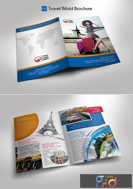 Travel Bifold Brochure Template 1