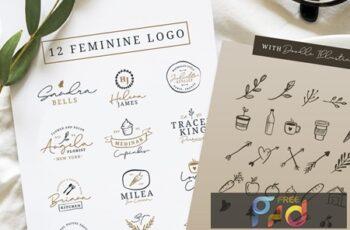 12 Feminine Logo + Doodle Illustration 5