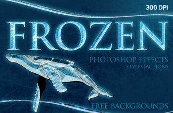 FROZEN Photoshop Effects+Action 3803185 3