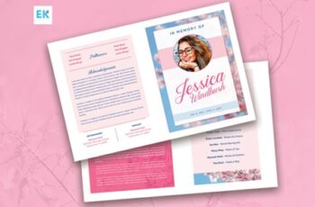 Floral Funeral Program Template 1539571 6