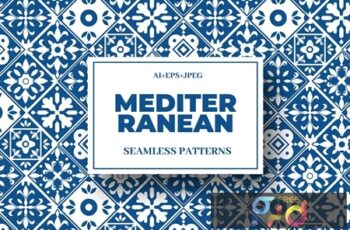Mediterranean Seamless Pattern Collection 1