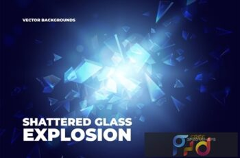 Shattered Glass Explosion Backgrounds 1