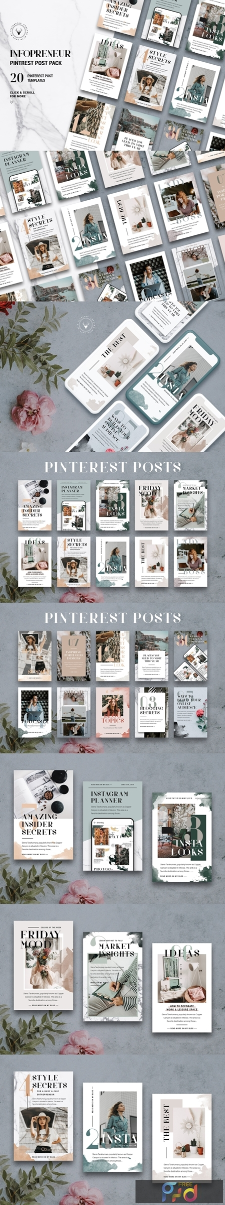Infopreneur - Pinterest Posts Pack 3885747 1