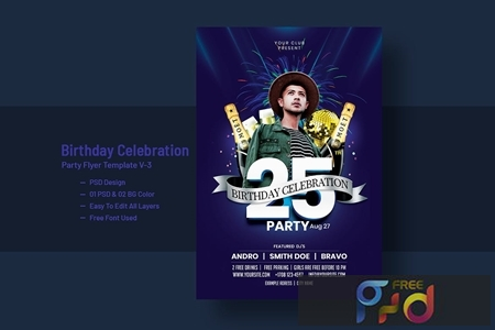 Birthday Celebration Party Flyer Template V-3 1