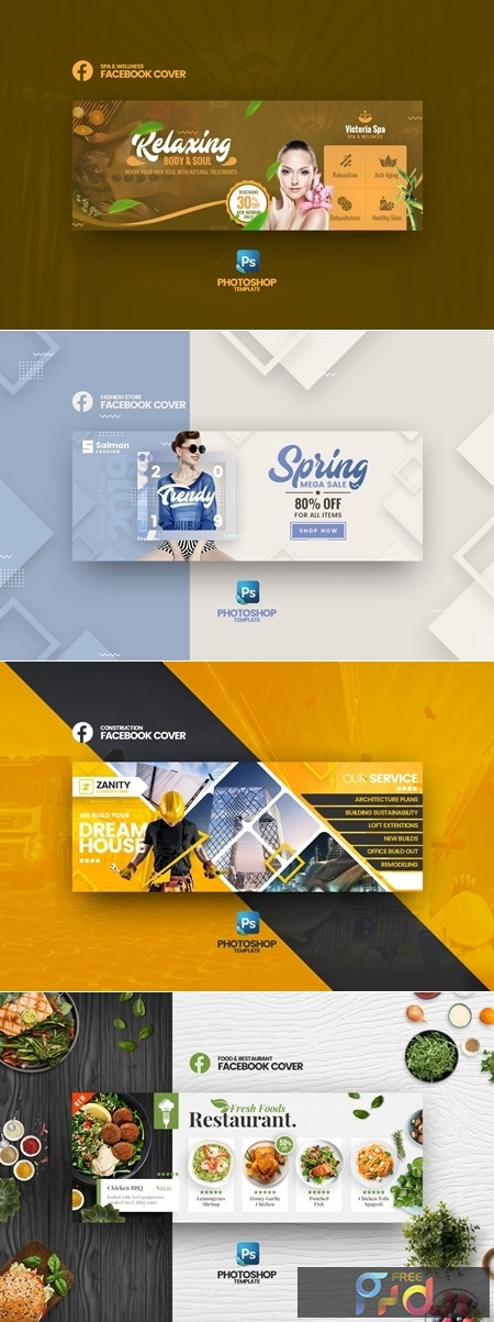 Facebook Cover PSD Template Vol2 1