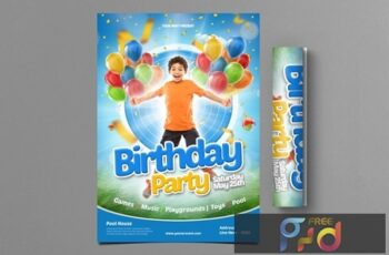 Kids Birthday Party Flyer 5