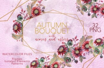 Autumn Bouquet with Acorns and Asters 1558406 6