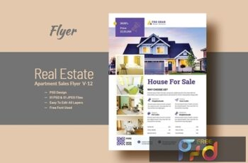 Real Estate (Apartment Sales) Flyer Template V-12 5