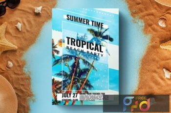 Summer Party Flyer Template 5PBGM7K 5