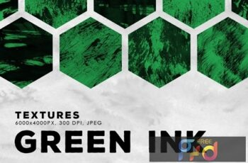 Green Abstract Ink Textures 2