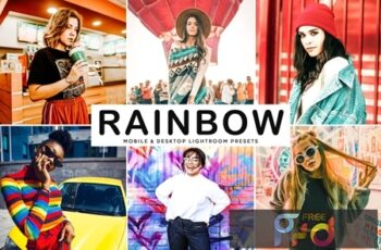 Rainbow Mobile & Desktop Lightroom Presets 2