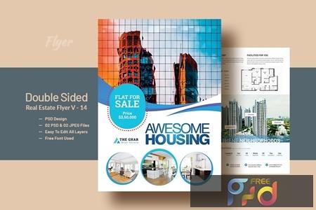 Double Side RealEstat (Apartment Sales) Flyer V-14 1
