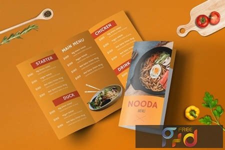 Bifold and Trifold Restaurant Menu Template Set 1