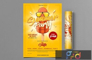 Summer Party Flyer 7DPC9LE 5