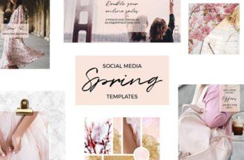 Social Media Spring Templates 3