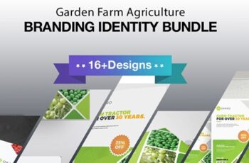 Garden Farm agriculture Identity Stationery 7